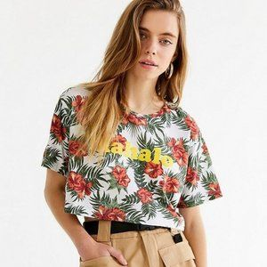 UO Truly Madly Deeply mahalo floral crop top